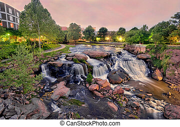Falls Park - This is falls Park on the Reedy river in ...