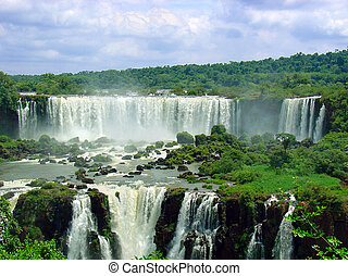Falls - Iguazy waterfalls between Brazil and Argentina