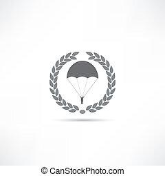 fallschirm, ikone