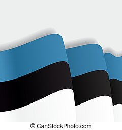 falować, flag., wektor, estończyk, illustration.