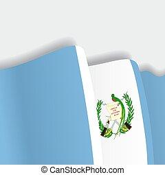 falować, flag., wektor, gwatemalczyk, illustration.