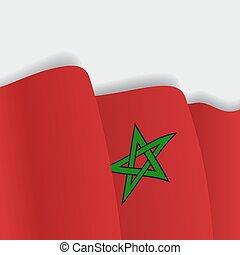 falować, flag., wektor, illustration., marokańczyk