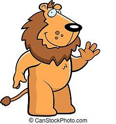 falować, lew