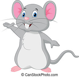falować, sprytny, mysz, rysunek