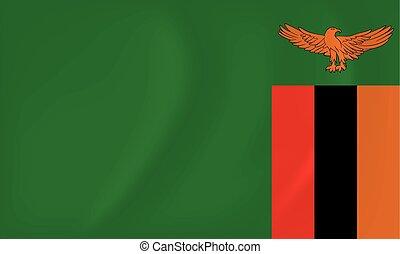 falować, zambia bandera