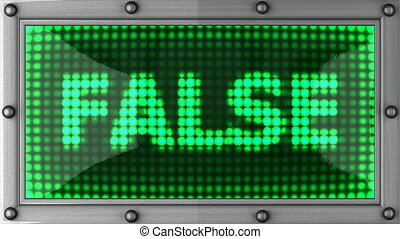 false announcement on the LED display