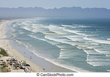False Bay, South Africa - A view of False Bay from Cape ...