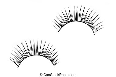 False eyelashes - Isolated false eyelashes on white...
