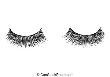 false eyelashes isolated on white