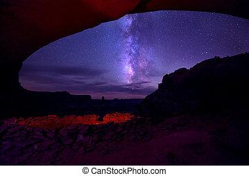 False Kiva and a Milky way Island in the Sky - False kiva ...