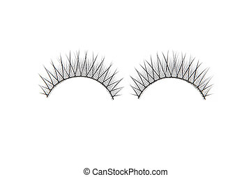 False lashes isolated on white