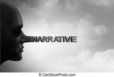 False Narrative - False narrative and news media fraud or a ...