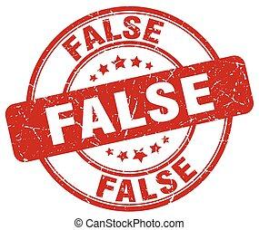 false red grunge round vintage rubber stamp