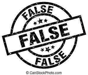 false round grunge black stamp