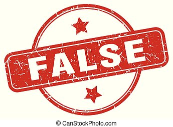 false sign - false vintage round isolated stamp