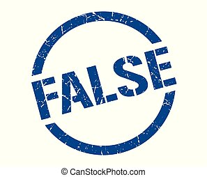 false stamp - false blue round stamp