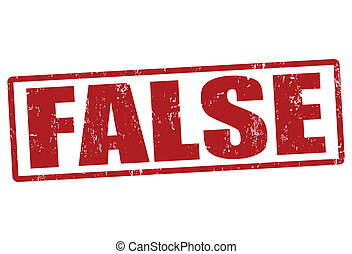False grunge rubber stamp on white, vector illustration