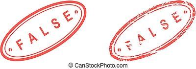 false stamp sticker