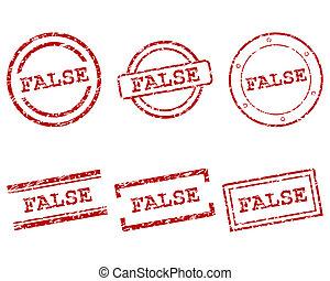 False stamps