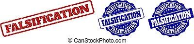 FALSIFICATION Grunge Stamp Seals