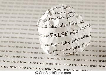 falsk, sann, eller