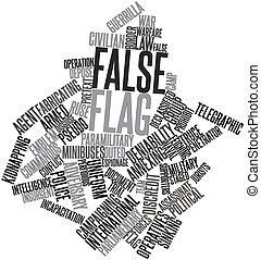 falso, bandera