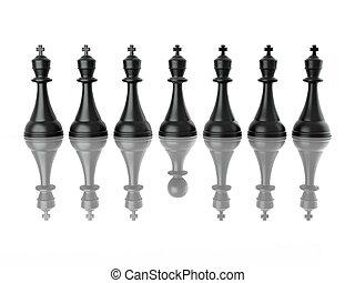 falso, imagem, leadership., conceitual, chess., 3d