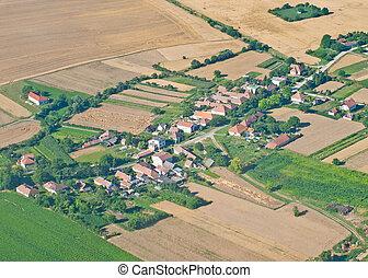 falu, felülnézet