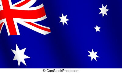 falując banderę, australia