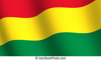 falując banderę, boliwia