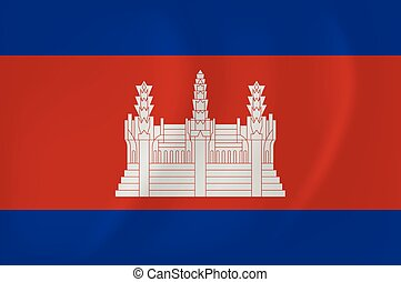 falując banderę, kambodża