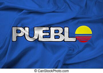 falując banderę, od, pueblo, kolorado, usa