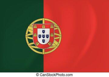 falując banderę, portugalia