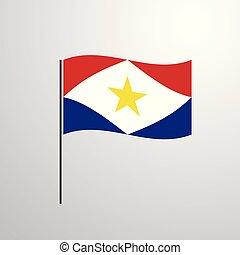 falując banderę, saba