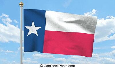 falując banderę, texas