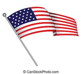 falując banderę