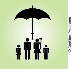 família, ícone, vetorial, ilustração