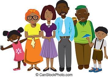 família, africano