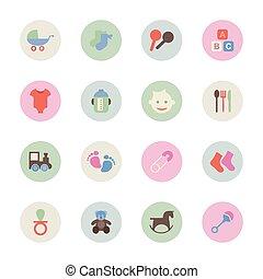 família, círculo, ícone