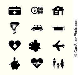 família, casa, proteção, saúde, car, educação, seguro