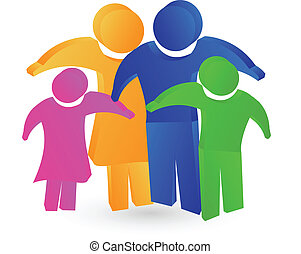 família, conceito, logotipo