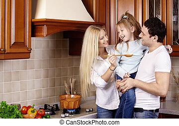 família, cozinha