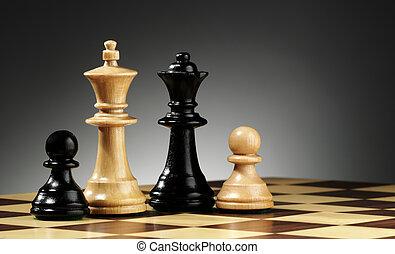 família, de, xadrez