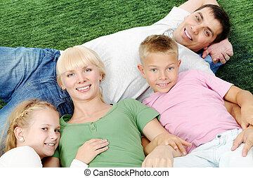 família, descansar