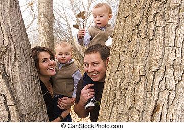 família, em, natureza