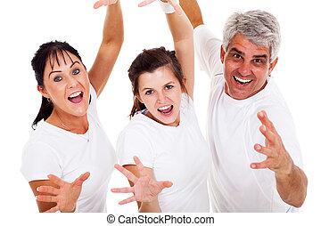 família, excitante, sporty