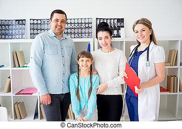 família feliz, doutor