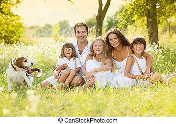 família, feliz