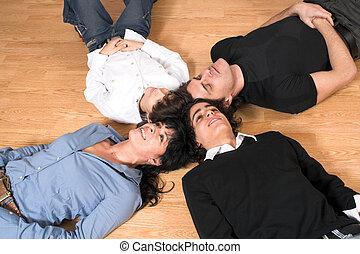 família feliz, tempo