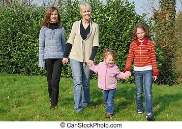 família, jardim
